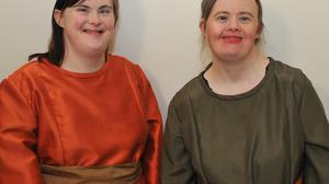 Olivia McGinnity and Mary Frances McAteer, appearing in the Encore Productions of the 'Aesop' show in An Táin Arts Centre. Photo: Aidan Dullaghan/Newspics