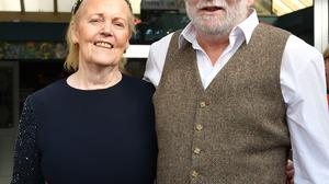 Kitty and Paddy Mackin who celebrated their joint birthdays in Byrne's of Hill Street. Photo: Ken Finegan/www.newspics.ie