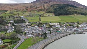 The scenery is magnificent, the road empty and silent in Carlingford at 5 to 3pm on Saturday the 28th of March 2020. Picture Ken Finegan/Newspics