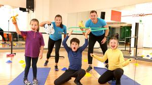 Athletes Phil Healy and David Gillick Ireland's Fittest Schools.