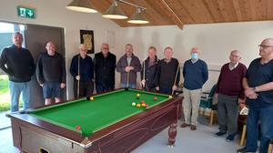 Members of the Tullyallen Men's Shed stand defiant in the face of the recent robbery.