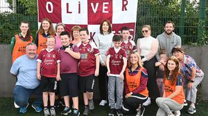Children, parents and helpers at St.Oliver Plunketts GFC. Photo: Colin Bell Photography