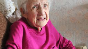 Theresa Coey from Blackrock who celebrated here 100th birthday on monday 18th October 2021. Photo: Aidan Dullaghan/Newspics