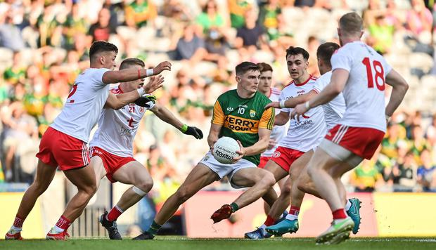 Kerry's Diarmuid O'Connor in action against Tyrone in the All-Ireland semi-final which the Kingdom lost
