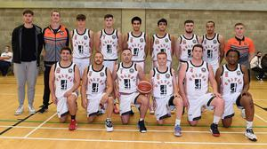 The Drogheda Wolves team before playing their first National League match. Photo: Colin Bell Photography