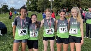 Ace AC's 1st place Girls Under-15 team of Sholah Lawrence, Kate Culhane, Eimear Cooney, Isabella García and Chloe Hanley.
