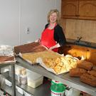 Mary O'Hanlon of Tasty Parlour, Campile, with her selection of cakes, scones and breads