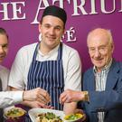 Alan O'Connor, Whitfield Catering Manager, Head Chef Romain Bierry, Whitfield and Dr. Michael O'Reilly, Consultant Cardiologist