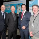 At the South East Business Finance Expo in County Buildings, from left: Tom Banville (Local Enterprise Office), Tom Bermingham (Wexford Local Developement), Karl Fitzpatrick (President Wexford Chamber) and Dr Pat Lynch (Rikon WIT)