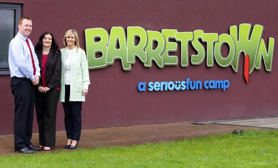 Tim O'Dea, director of development, Barretstown; Karen O'Connor, general manager, service delivery, Datapac and Dee Ahearn, CEO, Barretstown.