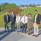 At the official opening of New Ross Library Park were woodturner Liam O'Neill, chairman of New Ross Municipal District Council, Cllr Michael Sheehan, district manager Sinead Casey, director of services Eamonn Hore, landscape creator Mary Reynolds and executive engineer Abraham Dunne
