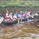 The Taghmon Men's Shed currach takes to the water after a summer of hard work