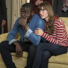 Daniel Kaluuya as Chris Washington and Allison Williams as Rose Armitage in Get Out