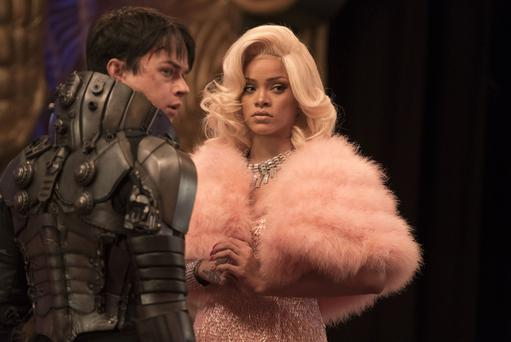 Dane DeHaan as Major Valerian and Rihanna as Bubble in Valerian And The City Of A Thousand Planets