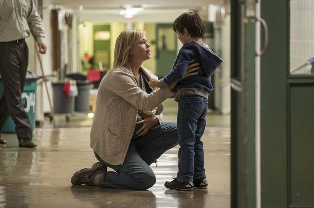 Charlize Theron as Marlo and Asher Miles Fallica as Jonah in Tully