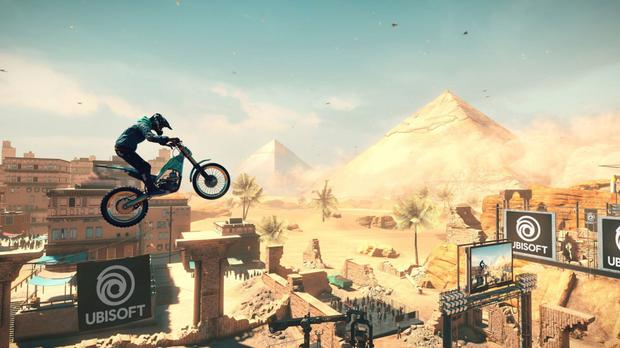 Trials Rising features a lavish spread of over a hundred levels.