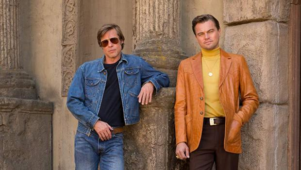 Brad Pitt as Cliff Booth and Leonardo DiCaprio as Rick Dalton in Once Upon A Time In Hollywood