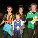 Fionn Connolly, Rory Tobin, Conal Tobin and JJ Ryan taking part in the the Darkness into Light walk at the Pink Rock recently.