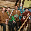 Pictured at rehearsals for the Rathnure Pantomime Society's forthcoming production of 'Wish upon a Heart The Forgotton Princess' in Rathnure Hall on Sunday were left to right Jack Butler as Little John, Ronan Cloney as Robin Hood, Brian Mullin as Alan Adale, Jessica Murphy as Maid Marian and Damian Murphy as Friar Tuck