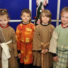 Poulfur N.S. pupils Ali Jo Whelan, Aidan Candil, Rohan O'Brien and Emily McCabe in rehearsal for their Nativity Play in the school