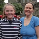 Charlotte Dowd and Deirdre Mason who took part in the Run for Autism in Johnstown Castle on Saturday