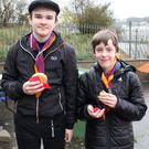 Leigh Parle and Owen Rogers enjoying the refreshments at Autism Awareness Day in New Ross Boat Club last Saturday