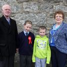 John, Stephen, Ian and Nancy Reilly at the Confirmations in Rathnure