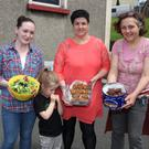 Rita McMahon, Mary Byrne and Ellie MacBeth at the Street Feast in the CBS Primary School on Sunday
