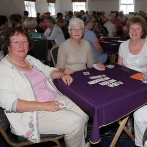 Till Kennedy, Mary Fielding, Mary G Doyle and Theresa Hanrahan playing bridge in Kilmore Quay Lodge on Wednesday morning as part of the Kilmore Seafood Festival