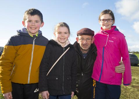 Pictured are Watt, Aine, Walter and Clodagh Crean from Adamstown at the Point to Point races at Ballinaboola on Sunday