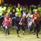 Some of the local children taking part in the final Operation Transformation run at Gusserane GAA club grounds