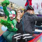 Members of St Kearns Rowing Club taking part in the Duncannon St. Patrick's Day Parade