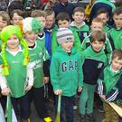 Young St Mullin's GAA members who were taking part in the St Patrick's Day parade in Graiguenamanagh