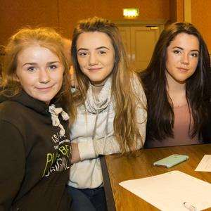 Taking part in the Gusserane ladies football GAA club table quiz fundraiser in the Horse and Hound were: Chelsea Tobin, New Ross; Heather Roche, Gusserane; Tara Monoghan, New Ross; Niamh Mulligan, Gusserane and Emer Gabbitt, Gusserane