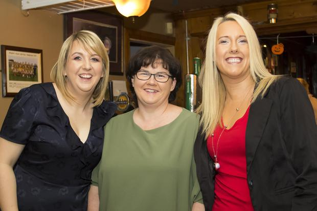 Enjoying the Rathnure school 25th re-union in Conrans bar Rathnure were Amanda Barron from Finchogue, Carol McDonnell, Ballywilliam and Melissa Dreelan, Kilanne.