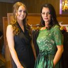 Siobhan McHale and Stephanie Nolan modelling clothes from LuLu Boutique, New Ross at the Gusserane Tidy Towns fashion show in the Horse and Hound, Ballinaboola