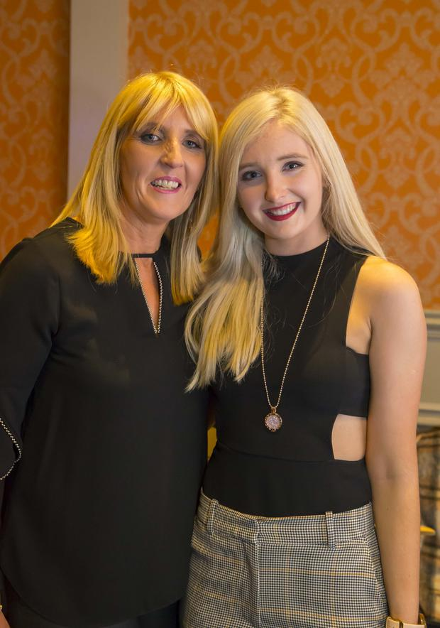 Marie and Aodaoin Kiely at the Gusserane Tidy Towns fashion show in the Horse and Hound