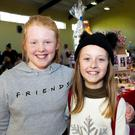 Cora Brazil and Rebecca St Ledger at the New Ross Pantomime Society Christmas craft fair in the Youth Centre