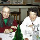 Tim O'Driscoll and Ann Murphy at the New Ross Old Folks Christmas party in the Horse and Hound