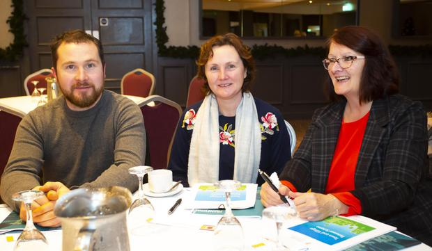 James and Sinead O'Sullivan, and Nuncie McDonnell from Ballymitty parish hall who attended the Rural Funding Scheme workshop in the Brandon House Hotel