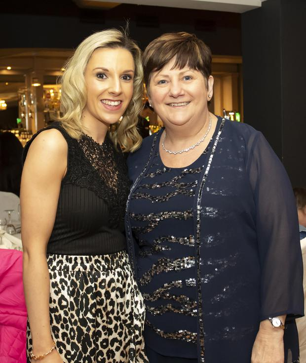 Karen Kiely Kelly and Eileen St Ledger at the New Ross Pantomime party in the Brandon House Hotel