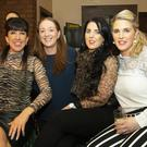 Enjoying their night out at the Glenmore camogie reunion in the Glen Bar, Glenmore were Bridget Mullally from Glenmore; Ann Marie Kehoe, Glenmore; Mairead McDonald, Slieverue and Laura Mooney, Slieverue
