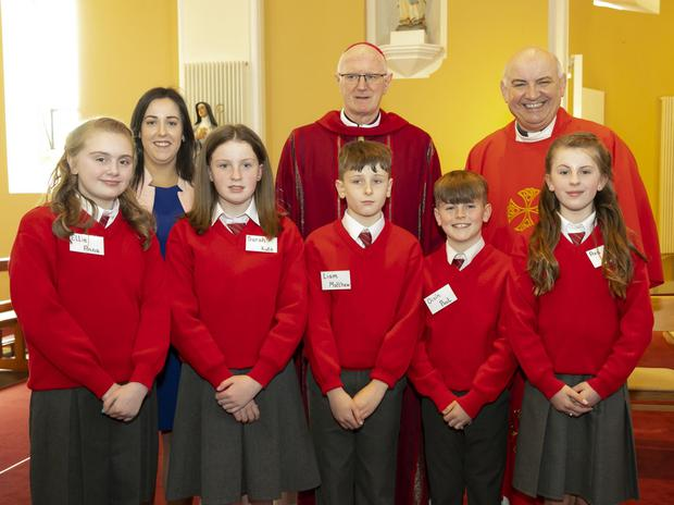 Pupils from Shanbogh NS at their Confirmation in Rosbercon church