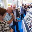 Tina and Markie Murphy from Battlestown and Jimmy Curtis, Clongeen enjoying the exhibition as part of Glanbia Shelburne Co-Op's 100 year celebrations