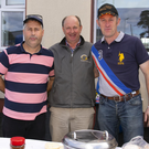Pictured at the start of the Tullogher Rosbercon vintage run at Rosbercon community centre were David Mackey, Glenmore; Bob Saunders, Tullogher and Jamie Doyle, Rosbercon