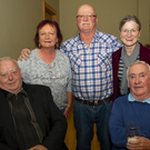 Enjoying the benefit night for the family of the late Mick Murphy at Cois Abhainn, Inistioge were (from left) Mick Walsh, Susan and Michael Dwyer, The Rower; Margaret Dwyer, Inistioge and Michael Murphy, The Rower