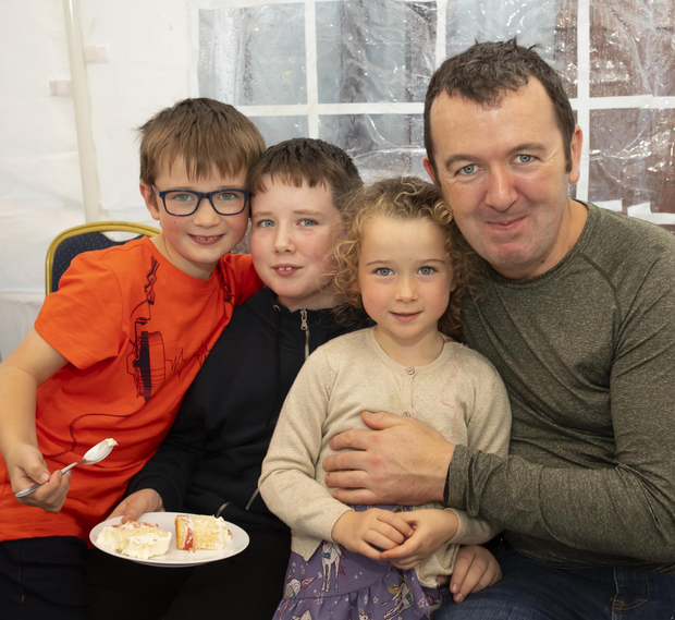Dan, Jack, Katie and John Coady from St Mullins at the 30th anniversary celebrations in Gahan house, Graignueamanagh