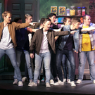 On stage action form the production of 'West Side Story' at St Michael's Theatre: The Jets get angry