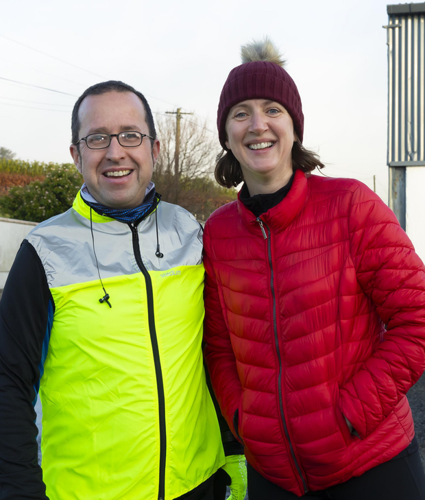 Seamus Doran from Tempeludigan and Aideen O'Flaherty, Castletown at the Tempeludigan fun run and walk on St Stephen's day