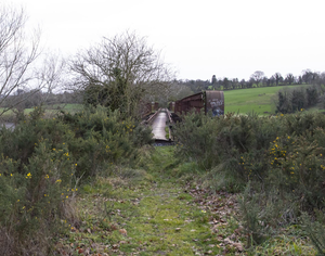 The Red Bridge, where people can continue along the Greenway walk or leave the route via a laneway to the old N30